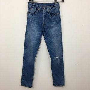 Levi's 501 Skinny High Waisted Button Fly jeans 24